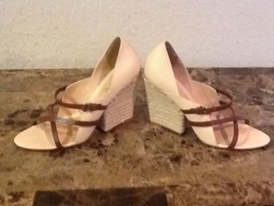 L.A.M.B. Beige/Tan Wedges