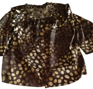 Willi Smith Polka Dots Button Down Tunic