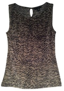 Banana Republic Sleeveless Top Black/Beige