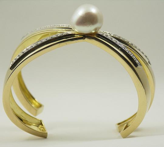 Tiffany & Co. Vintage Tiffany Paloma Picasso Diamond X Bangle With Pearl