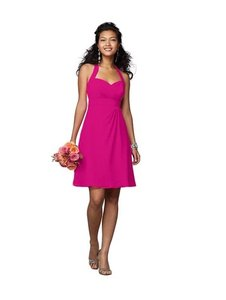 Alfred Angelo Fuchsia Chiffon 7172 Formal Bridesmaid/Mob Dress Size 10 (M)