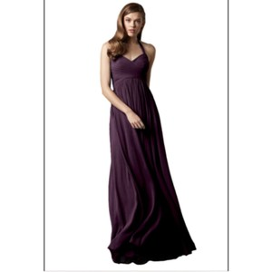 Watters Plum Crinkle Chiffon Formal Bridesmaid/Mob Dress Size 8 (M)