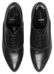 AllSaints Oxford Stud Studded Designer All Black Flats