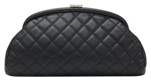 Chanel Timeless Kisslock CC Quilted Caviar Mini Classic Evening Frame Clutch
