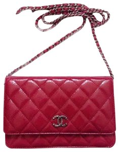 Chanel Wallet On A Chain WOC Dallas Metallic Patent Quilted 14A CrossBody Bag