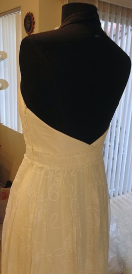 BHLDN Buttercream Silk and Cotton City Of Light Gown Formal Wedding Dress Size 10 (M)