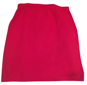 St. John Work Knit Skirt Red
