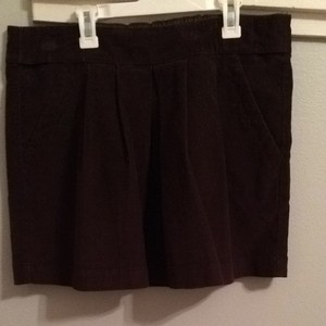 Fossil Corduroy Pleated A-line Brown Skirt