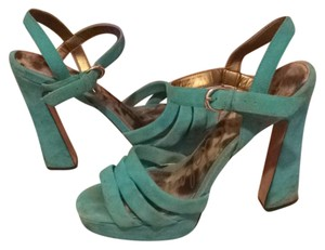 Sam Edelman Suede Funky Turquoise Platforms