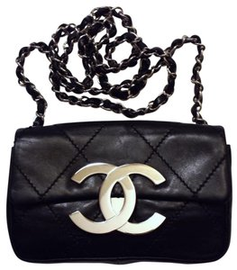 Chanel Mini Classic Flap 2.55 Xl Jumbo Cc Logo Diamond Quilted Lambskin WOC