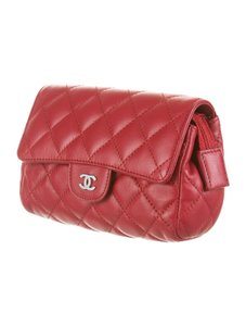 Chanel Easy Mini WOC Classic Lambskin Quilted Single Flap CC CrossBody Bag