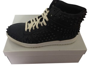 Steve Madden Shimmer Studded High-top Sneakers Black and White Athletic