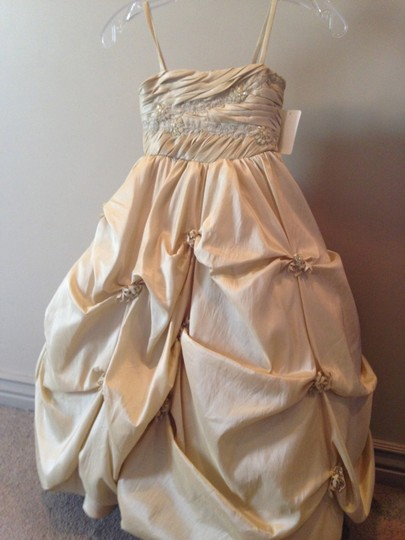 Champagne 7101 Flower Girl/pageant Dress