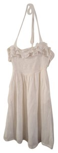 Maeve short dress White Summer Ruffles Flirty on Tradesy