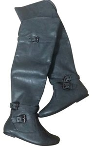 Gabriella Rocha Knee High Thigh High Gray Boots