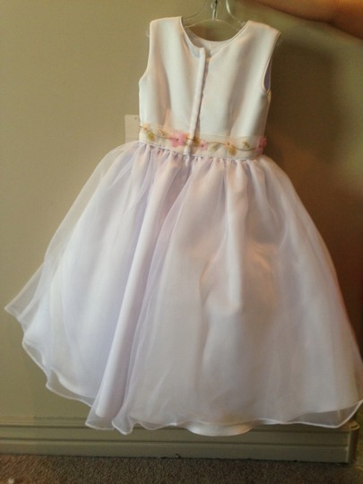 White Organza Flower Girl Dress