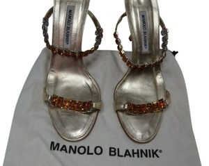 Manolo Blahnik Crystal Gold / Formal