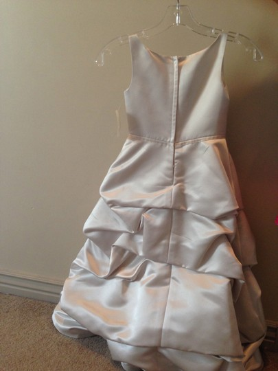 2 Be Bride Oyster Italian Satin With Train Dress
