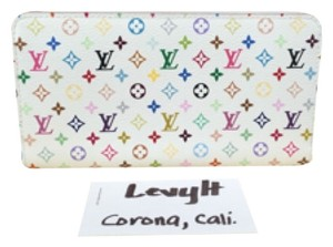Louis Vuitton Authentic Louis Vuitton White Multicolor Zippy Wallet Like New Discontinued!
