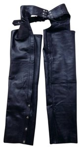 Barneys leather Straight Leg Jeans-Dark Rinse