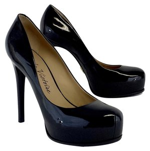 Pour La Victoire Black Patent Leather Pumps
