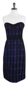 Diane von Furstenberg short dress Black Blue Strapless on Tradesy