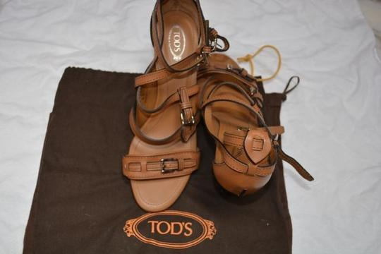 Tod's Leather Rubber Beige/Brown Sandals