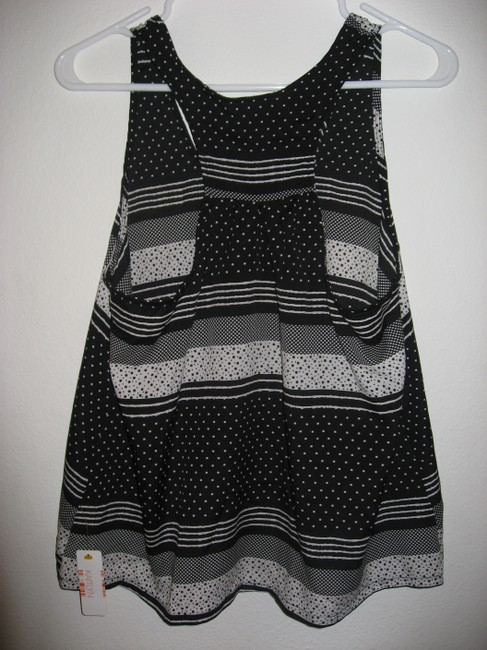 Other Aztec Racer-back Top Printed Black & White