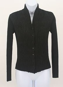 Anne Fontaine Textured Ls V Neck Snap Front Cardigan B159 Sweater