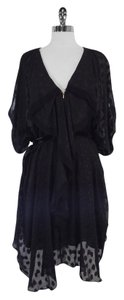 3.1 Phillip Lim Black Print Silk Dress