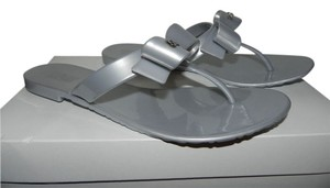 Coach Metallic Silver Sandals