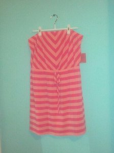Mossimo Supply Co. short dress Orange Strapless on Tradesy