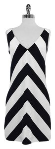 Trina Turk short dress Black White Chevron on Tradesy