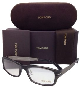 Tom Ford New TOM FORD Eyeglasses TF 5217 020 56-18 Dark Grey Frame w/ Gunmetal Temples