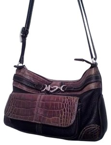 Brighton Designer Handbag Leather Pebbled Leather Shoulder Bag
