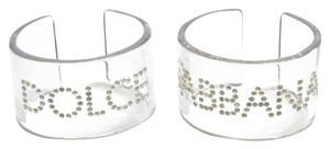 Dolce&Gabbana New Authentic Dolce & Gabbana Acrylic Resin Bangle Bracelets with Swarovski Elements