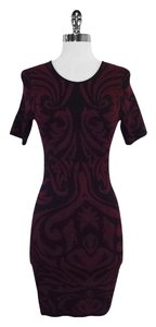 Torn by Ronny Kobo short dress Black Red Knit Bodycon Bodycon on Tradesy