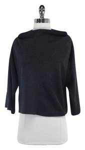 Diane von Furstenberg Grey Wool Cowl Neck Sweater