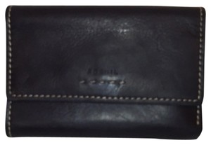 Fossil Trifold Wallet Distressed Black Leather Fossil