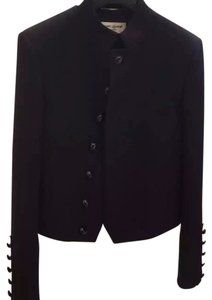 Saint Laurent Spencer Virgin Wool Military Jacket