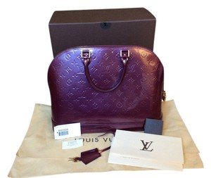 Louis Vuitton Alma Mm Monogram Vernis Tote in Violette