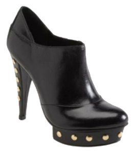 Steven by Steve Madden Red Soles Black Leather Boots