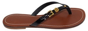 Tory Burch Thong Fleming Black Sandals
