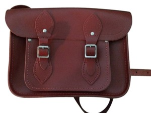 The Cambridge Satchel Company Classic Buckle Satchel in Red