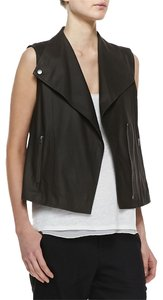 Vince Designer Leather Suede Vest