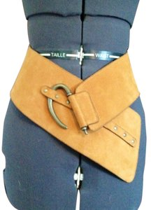 Wide Suede Hip Belt made in Italy