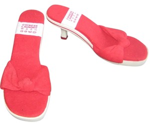 Chinese Laundry Mule Slip On Fabric Gym Rubber Fun Sexy Summer Designer Red White Sandals
