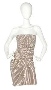 Gucci Zebra Print Animal Print Strapless Gc.ej1008.24 Dress