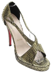 Christian Louboutin Antiqued Gold Sandals