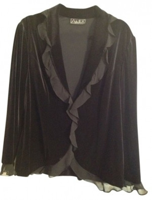 Preload https://img-static.tradesy.com/item/10707/black-perfect-for-holidays-velvet-and-chiffon-night-out-top-size-12-l-0-0-650-650.jpg